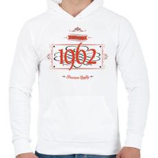 PRINTFASHION since-1962-red-black - Férfi kapucnis pulóver - Fehér
