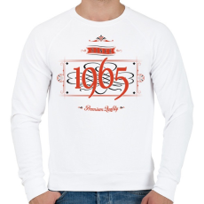 PRINTFASHION since-1965-red-black - Férfi pulóver - Fehér