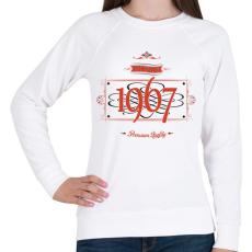 PRINTFASHION since-1967-red-black - Női pulóver - Fehér