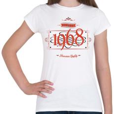PRINTFASHION since-1968-red-black - Női póló - Fehér