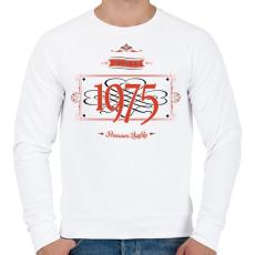 PRINTFASHION since-1975-red-black - Férfi pulóver - Fehér