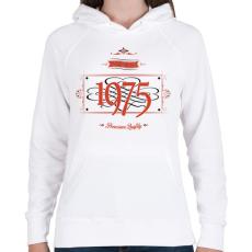 PRINTFASHION since-1975-red-black - Női kapucnis pulóver - Fehér