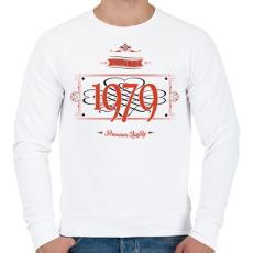 PRINTFASHION since-1979-red-black - Férfi pulóver - Fehér