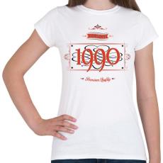 PRINTFASHION since-1990-red-black - Női póló - Fehér