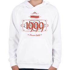 PRINTFASHION since-1999-red-black - Gyerek kapucnis pulóver - Fehér