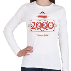 PRINTFASHION since-2000-red-black - Női hosszú ujjú póló - Fehér