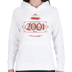 PRINTFASHION since-2001-red-black - Női kapucnis pulóver - Fehér