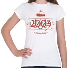 PRINTFASHION since-2003-red-black - Női póló - Fehér