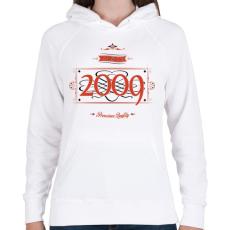 PRINTFASHION since-2009-red-black - Női kapucnis pulóver - Fehér