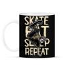 PRINTFASHION Skate Eat Sleep Repeat - Bögre - Fekete