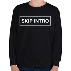 PRINTFASHION Skip Intro - Gyerek pulóver - Fekete
