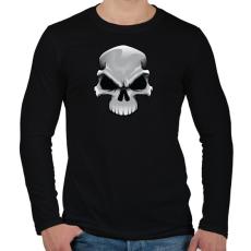 PRINTFASHION Skull - Férfi hosszú ujjú póló - Fekete