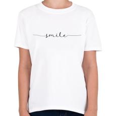 PRINTFASHION smile - Gyerek póló - Fehér