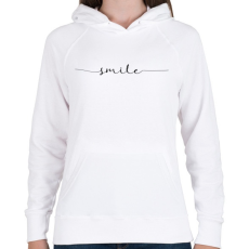 PRINTFASHION smile - Női kapucnis pulóver - Fehér