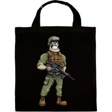 PRINTFASHION Soldier - Vászontáska - Fekete