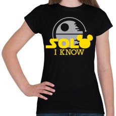 PRINTFASHION Solo I know - Női póló - Fekete