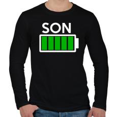 PRINTFASHION SON - Férfi hosszú ujjú póló - Fekete