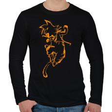 PRINTFASHION Son Goku - Férfi hosszú ujjú póló - Fekete
