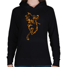 PRINTFASHION Son Goku - Női kapucnis pulóver - Fekete