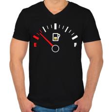 PRINTFASHION Sör Tank - Férfi V-nyakú póló - Fekete