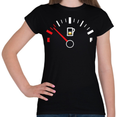 PRINTFASHION Sör Tank - Női póló - Fekete