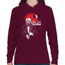 PRINTFASHION Sötét fater - Női kapucnis pulóver - Bordó