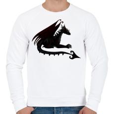 PRINTFASHION Sötét sárkány - Férfi pulóver - Fehér