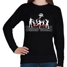 PRINTFASHION Squad Goals - Női pulóver - Fekete
