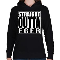 PRINTFASHION Straight Outta Eger - Női kapucnis pulóver - Fekete
