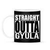 PRINTFASHION Straight Outta Gyula - Bögre - Fekete