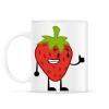 PRINTFASHION Strawberry  - Bögre - Fehér