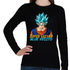 PRINTFASHION Super Saiyan Blue Vegito - Női hosszú ujjú póló - Fekete