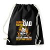 PRINTFASHION Super Saiyan Dad - Sportzsák, Tornazsák - Fekete
