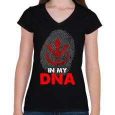 PRINTFASHION Super Saiyan ROYAL jel - Női V-nyakú póló - Fekete