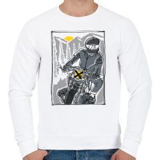 PRINTFASHION Száguldás - Férfi pulóver - Fehér