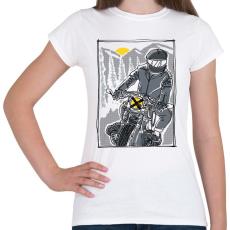 PRINTFASHION Száguldás - Női póló - Fehér