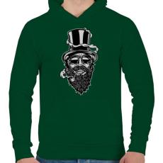 PRINTFASHION Szakáll - Férfi kapucnis pulóver - Sötétzöld