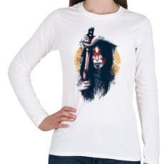 PRINTFASHION Szamuráj áldozat - Női hosszú ujjú póló - Fehér