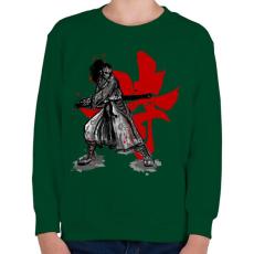 PRINTFASHION Szamuráj szellem - Gyerek pulóver - Sötétzöld