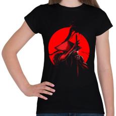 PRINTFASHION Szamuráj vágás - Női póló - Fekete