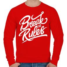 PRINTFASHION Szegd meg a szabályokat!  - Férfi pulóver - Piros