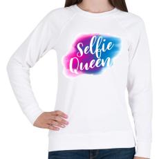 PRINTFASHION Szelfi Királynő - Női pulóver - Fehér