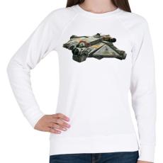 PRINTFASHION Szellem - Női pulóver - Fehér