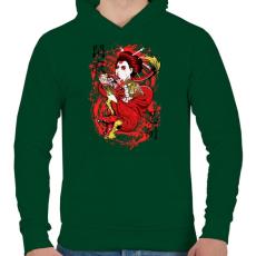 PRINTFASHION Szellemsárkány - Férfi kapucnis pulóver - Sötétzöld