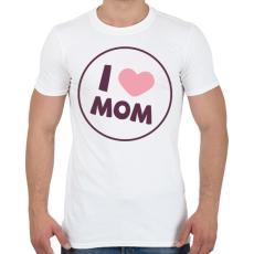 PRINTFASHION Szeretem az Anyukám - Férfi póló - Fehér