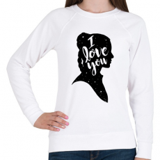 PRINTFASHION Szeretlek! - Női pulóver - Fehér