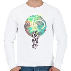 PRINTFASHION színek - Férfi pulóver - Fehér