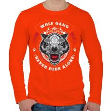 PRINTFASHION Színes farkascsapat - Férfi hosszú ujjú póló - Narancs