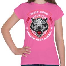 PRINTFASHION Színes farkascsapat - Női póló - Rózsaszín