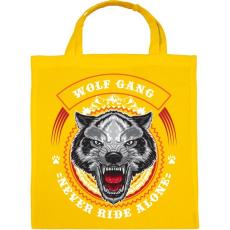 PRINTFASHION Színes farkascsapat - Vászontáska - Sárga
